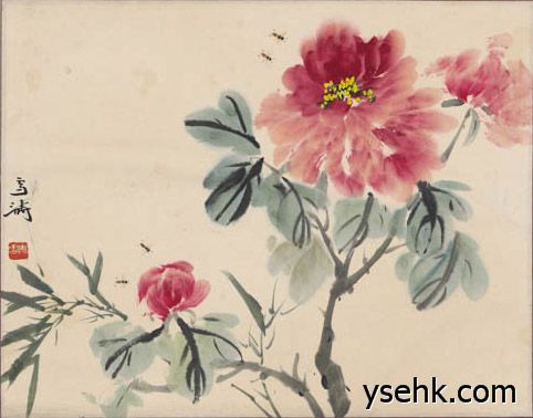 王雪涛  牡丹图